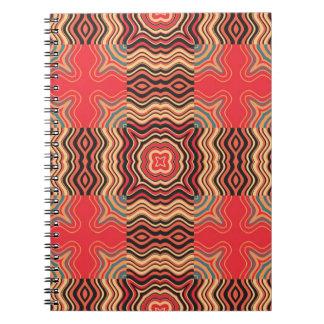 Cuadrado inconsútil retro del modelo del arco iris spiral notebook