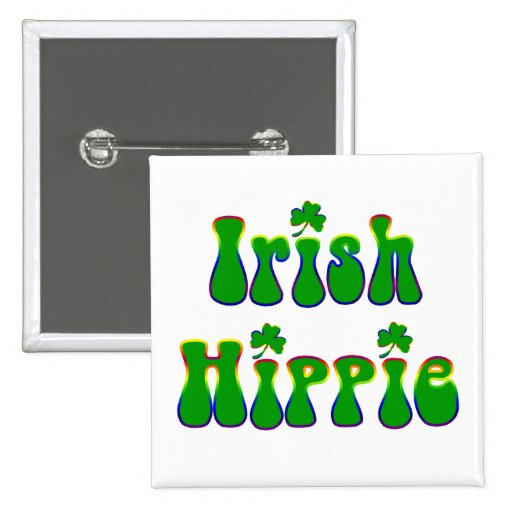 Cuadrado irlandés del Hippie Pin Cuadrada 5 Cm