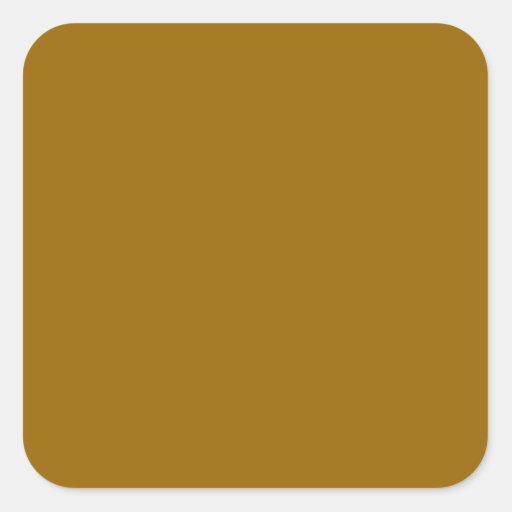 CUADRADO - la sombra del color del EDIT AÑADE Calcomanía Cuadradas Personalizada