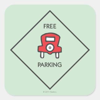 Cuadrado libre de la esquina del estacionamiento pegatina cuadrada
