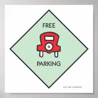 Cuadrado libre de la esquina del estacionamiento póster