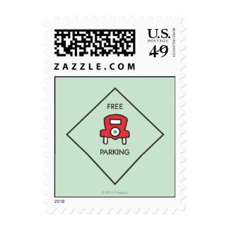 Cuadrado libre de la esquina del estacionamiento timbre postal
