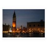 Cuadrado macro de Venecia San en la postal de la n