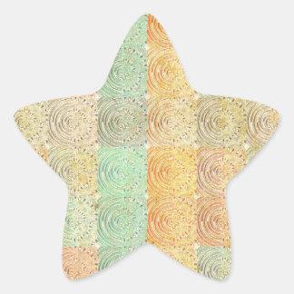 Cuadrado multicolor del vintage. Modelo geométrico Pegatina En Forma De Estrella