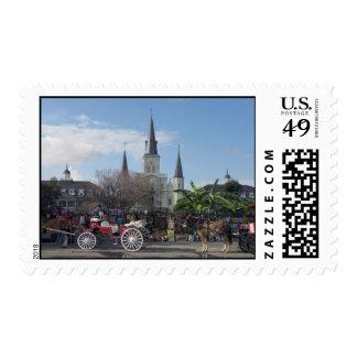 Cuadrado-Nuevo Orleans franqueo de Jackson Sellos