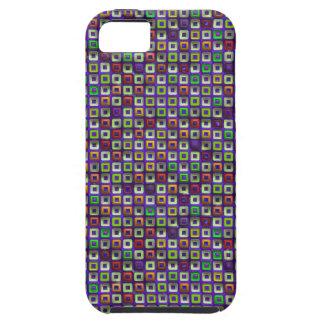 Cuadrado óptico Donughts multicolor 01 del arte iPhone 5 Carcasas