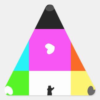 cuadrado pegatina triangular