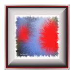 Cuadrado POP arte azul y rojo Impresiones En Lienzo Estiradas