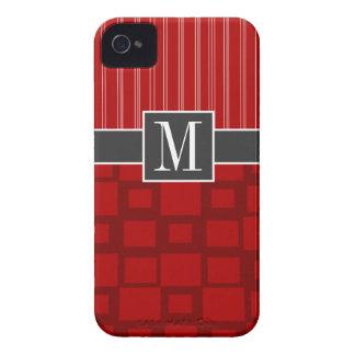 Cuadrado retro rojo iPhone 4 Case-Mate carcasas