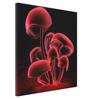 Cuadrado rojo de la fluorescencia impresiones en lona estiradas