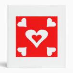 Cuadrado rojo del corazón