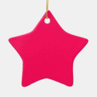 Cuadrado rosado brillante adorno de cerámica en forma de estrella