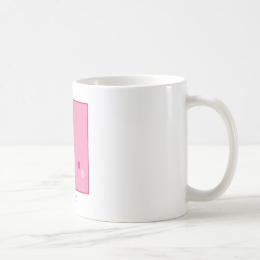 Cuadrado rosado de Kawaii Tazas