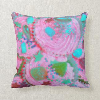 Cuadrado rosado de la almohada de tiro de las cojín decorativo
