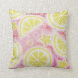 """Cuadrado rosado de la almohada de tiro de los """"lim"""