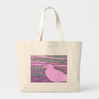 Cuadrado rosado de la gaviota bolsas