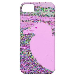 Cuadrado rosado de la gaviota iPhone 5 Case-Mate protector
