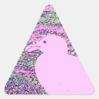 Cuadrado rosado de la gaviota calcomanías trianguladas personalizadas