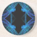 Cuadrado Series-3--- Práctico de costa azul 1 de Posavasos Personalizados