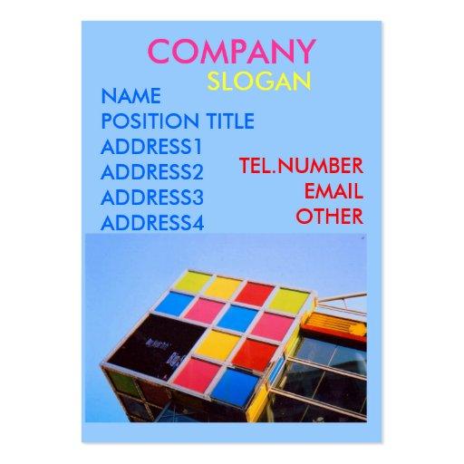 Cuadrado simple plantillas de tarjeta de negocio