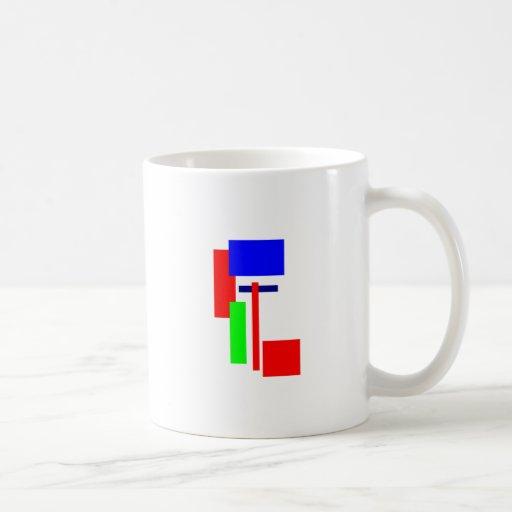 cuadrado taza básica blanca