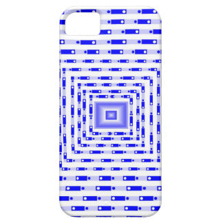 Cuadrado tridimensional azul funda para iPhone SE/5/5s
