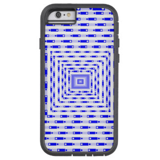 Cuadrado tridimensional azul funda tough xtreme iPhone 6