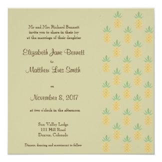 Cuadrado tropical bilingüe de la invitación del invitación 13,3 cm x 13,3cm