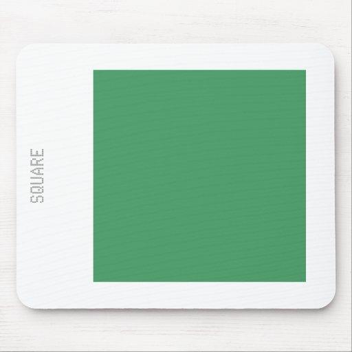 Cuadrado - verde caqui y blanco alfombrilla de ratones