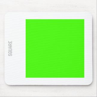 Cuadrado - verde chartreuse y blanco mouse pad