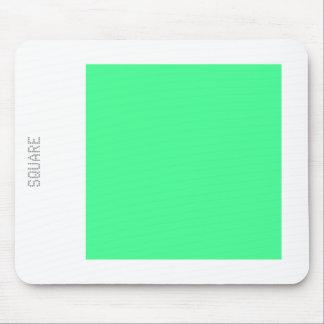 Cuadrado - verde menta y blanco mouse pads
