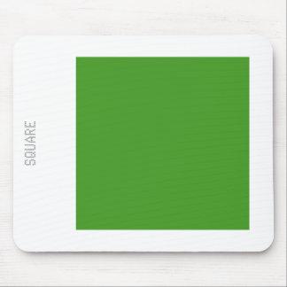 Cuadrado - verde y blanco del aguacate alfombrillas de raton