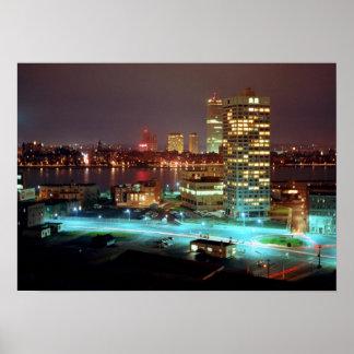 Cuadrado y Boston Skyline, 1967 de Kendall Impresiones