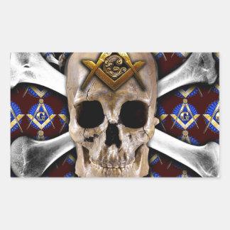 Cuadrado y compás del cráneo rojo oscuro rectangular altavoces