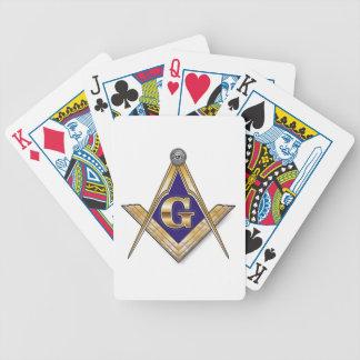 Cuadrado y compases azules discretos baraja cartas de poker