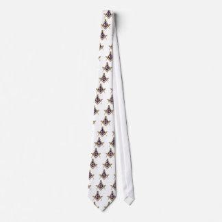 Cuadrado y compases azules discretos corbatas personalizadas