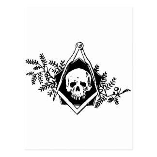 Cuadrado y compases de la mortalidad tarjetas postales