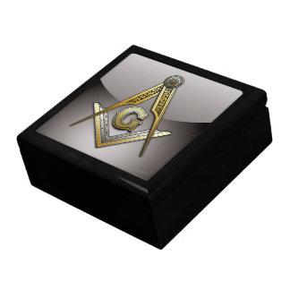 Cuadrado y compases masónicos caja de joyas