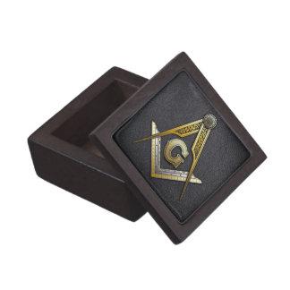 Cuadrado y compases masónicos cajas de joyas de calidad