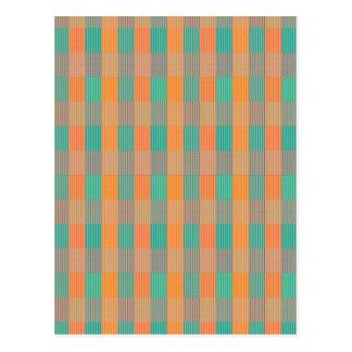 """""""Cuadrado y rayas geométricos coloreados multi """" Tarjeta Postal"""