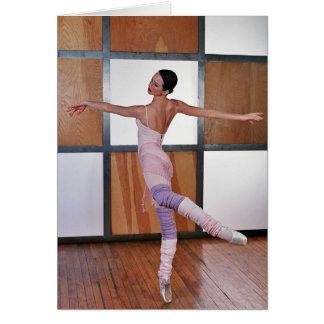 Cuadrados 1 del ballet tarjeta de felicitación