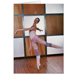 Cuadrados 2 del ballet tarjeta de felicitación