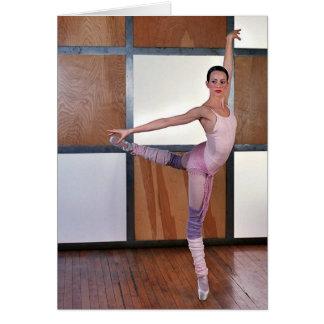 Cuadrados 3 del ballet tarjeta de felicitación