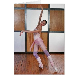 Cuadrados 4 del ballet tarjeta de felicitación