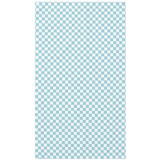 Cuadrados a cuadros azules y blancos mantel de tela