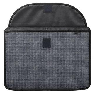 Cuadrados a cuadros masculinos clásicos del gris a funda para macbook pro