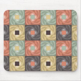 Cuadrados abstractos de la rejilla del color alfombrilla de raton