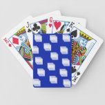 Cuadrados abstractos en naipes azules baraja cartas de poker