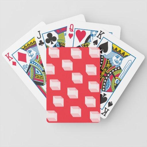 Cuadrados abstractos en naipes rojos baraja cartas de poker