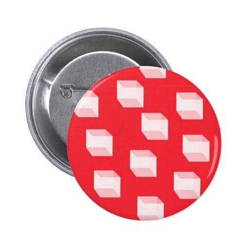 Cuadrados abstractos en rojo pin